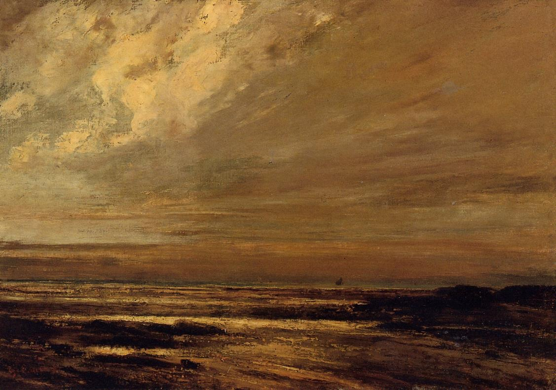The Beach at Trouville at Low Tide 2 – Gustave Courbet