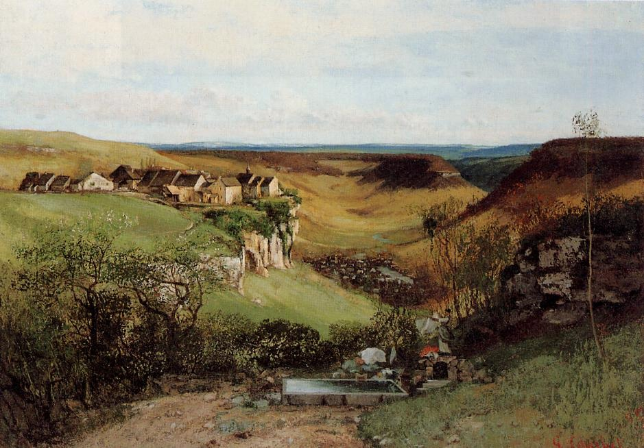 The Chateau d'Ornans – Gustave Courbet
