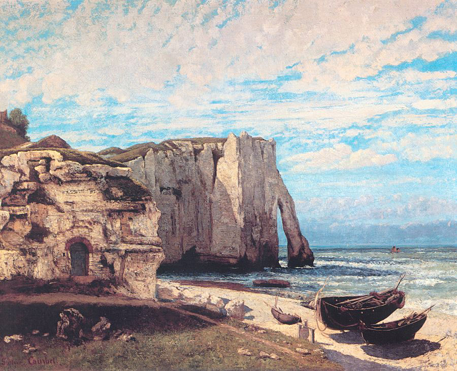 The Cliff at Etretat After the Storm – Gustave Courbet