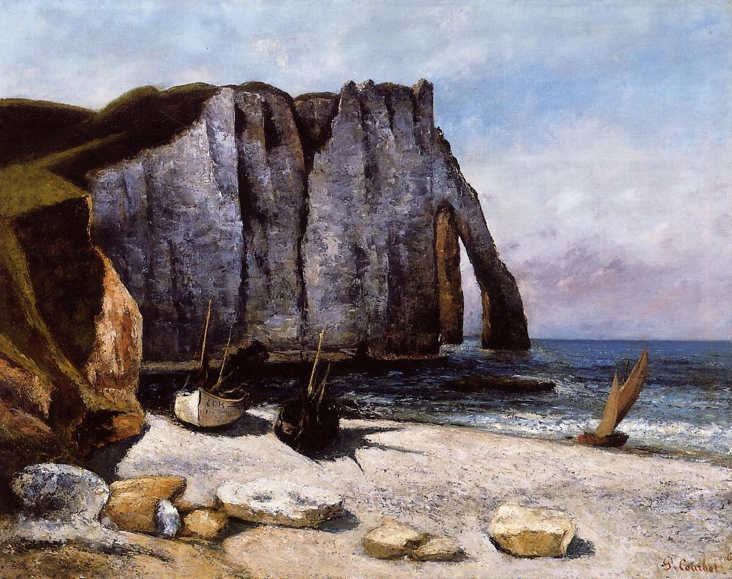 The Cliff at Etretat – Gustave Courbet