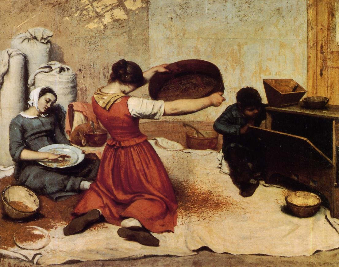 The Grain Sifters – Gustave Courbet