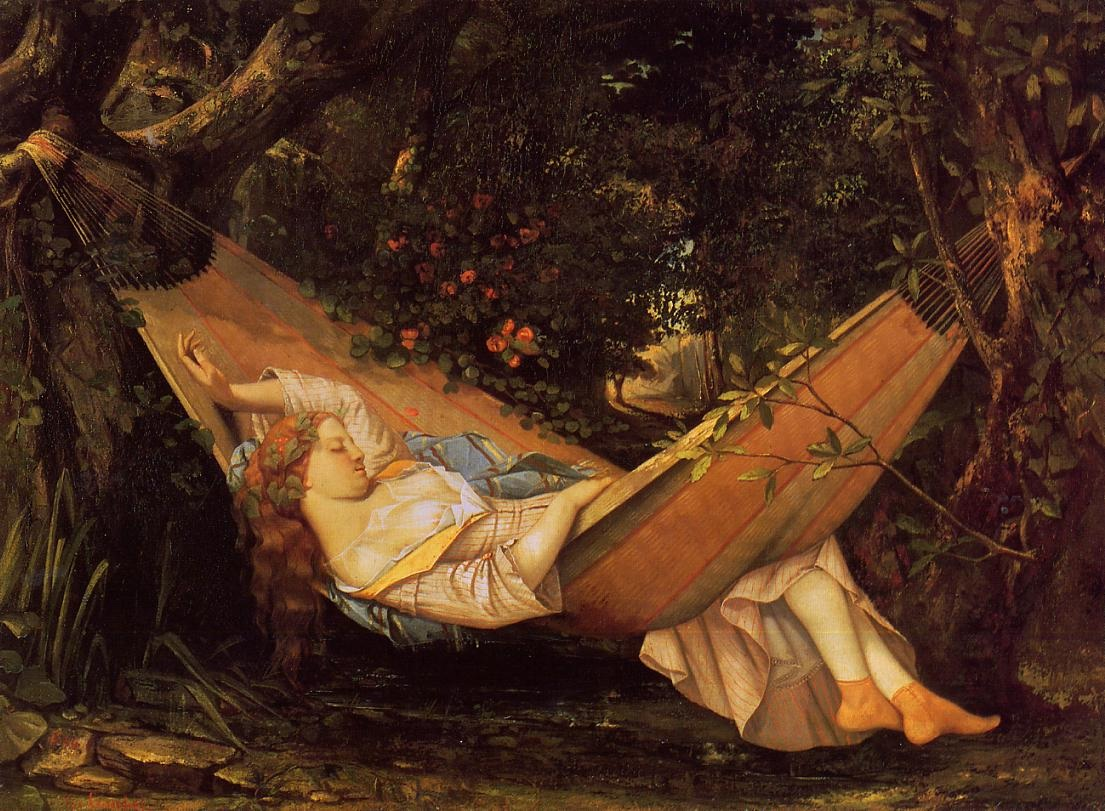 The Hammock – Gustave Courbet