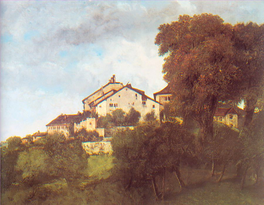 The Houses of the Chateau D'Ornans – Gustave Courbet