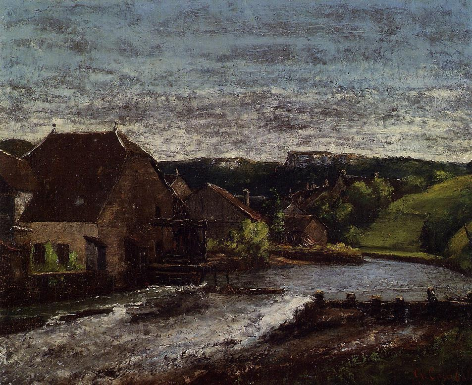 The Loue Valley – Gustave Courbet