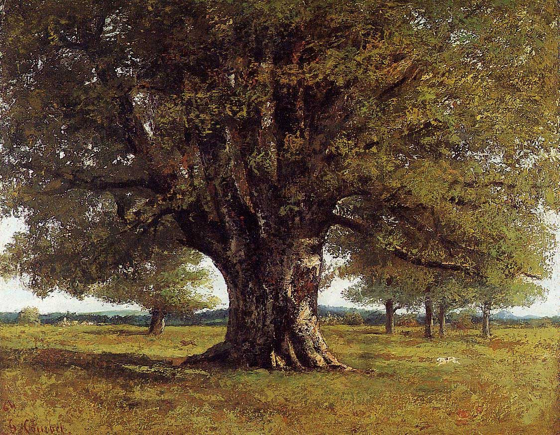 The Oak at Flagey – Gustave Courbet