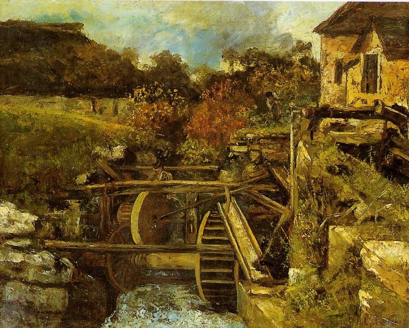 The Ornans Paper Mill – Gustave Courbet
