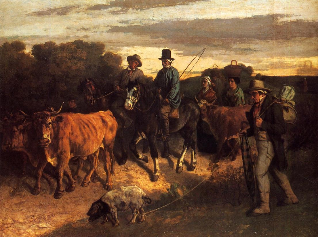 The Peasants of Flagey Returning from the Fair, Ornans – Gustave Courbet
