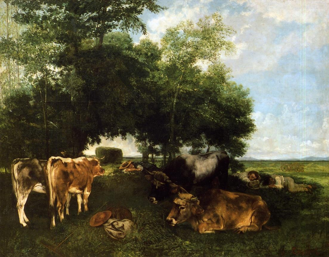 The Rest During the Harvest Season – Gustave Courbet