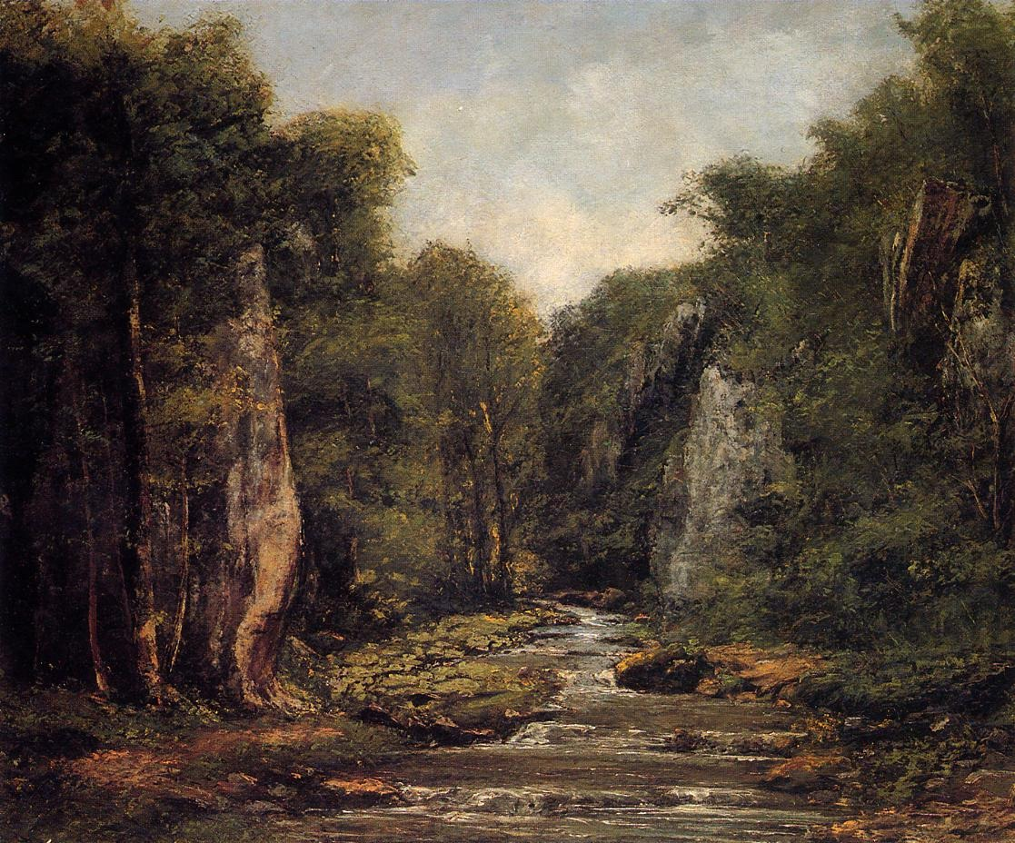 The River Plaisir Fontaine – Gustave Courbet