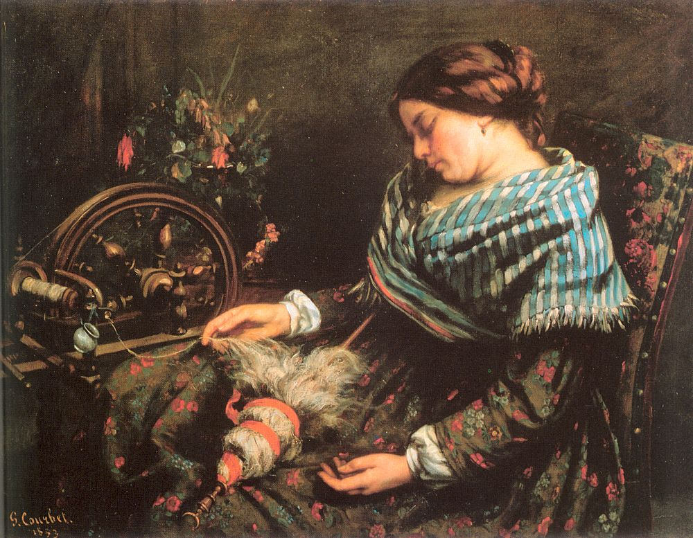 The Sleeping Spinner – Gustave Courbet