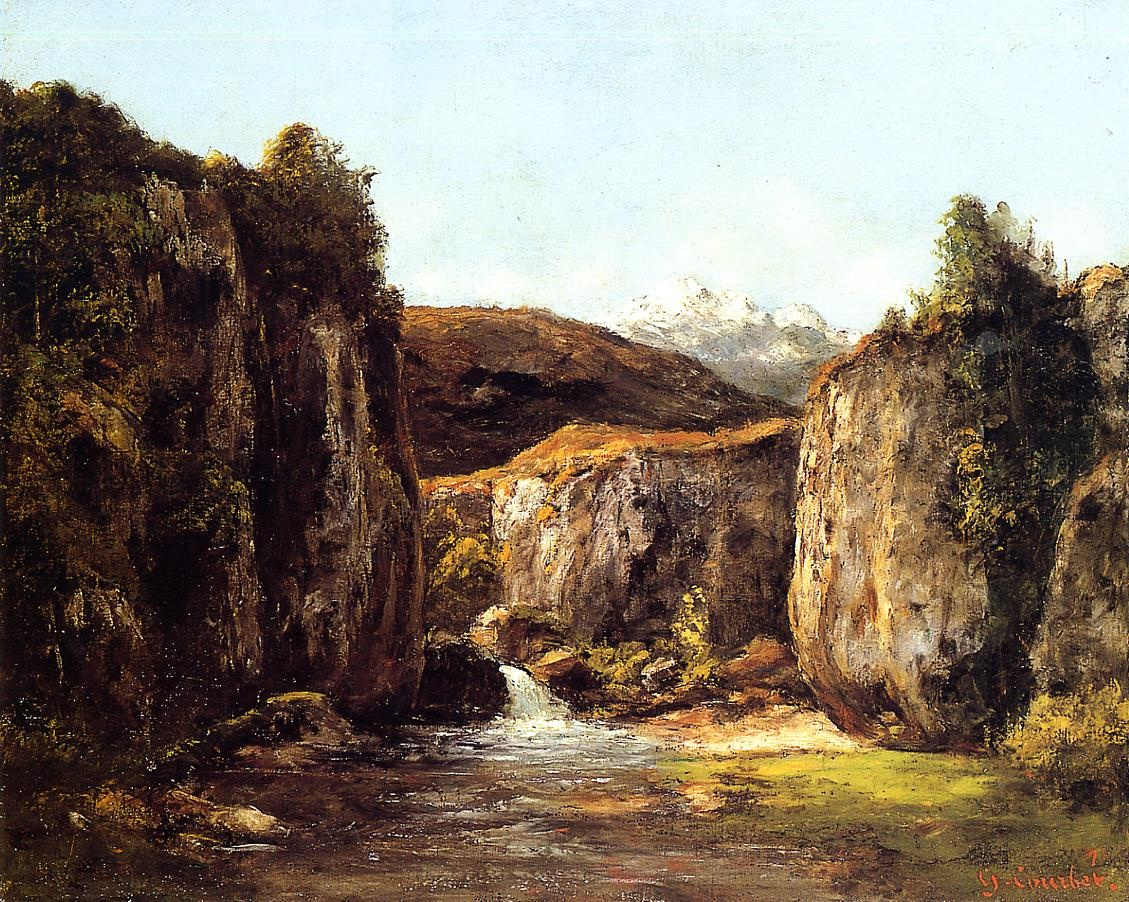 The Source among the Rocks of the Doubs – Gustave Courbet
