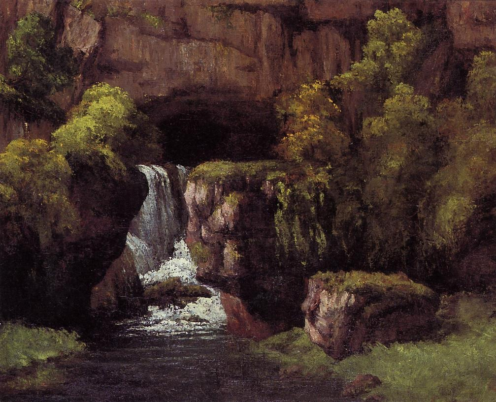 The Source of the Lison – Gustave Courbet