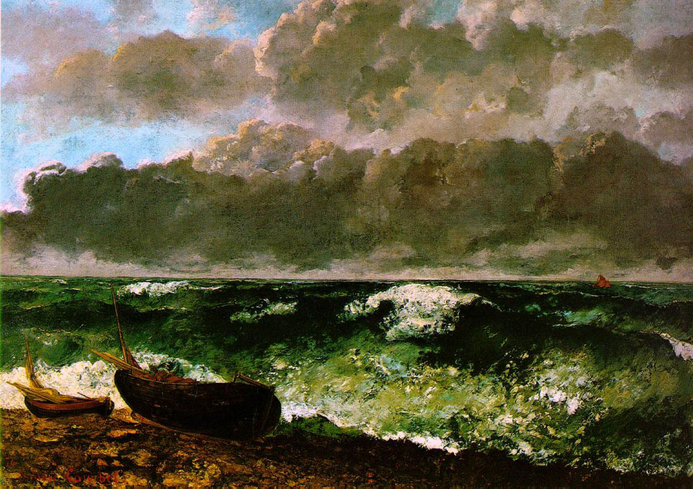 The Stormy Sea – Gustave Courbet