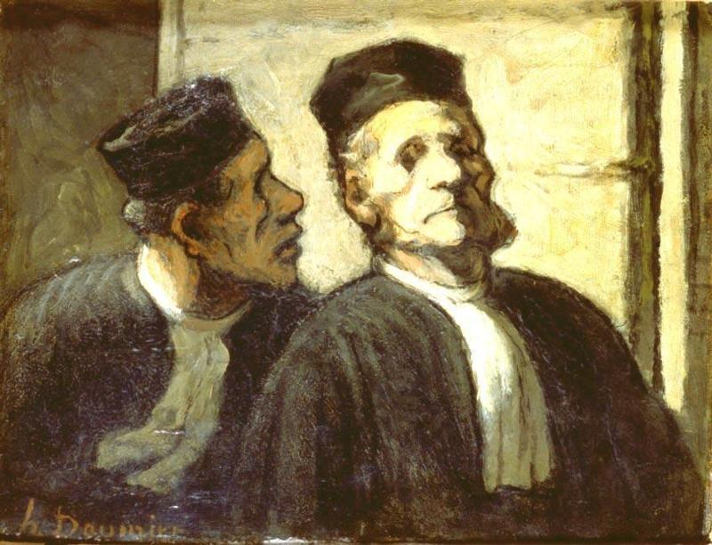 The Two Attorneys – Daumier