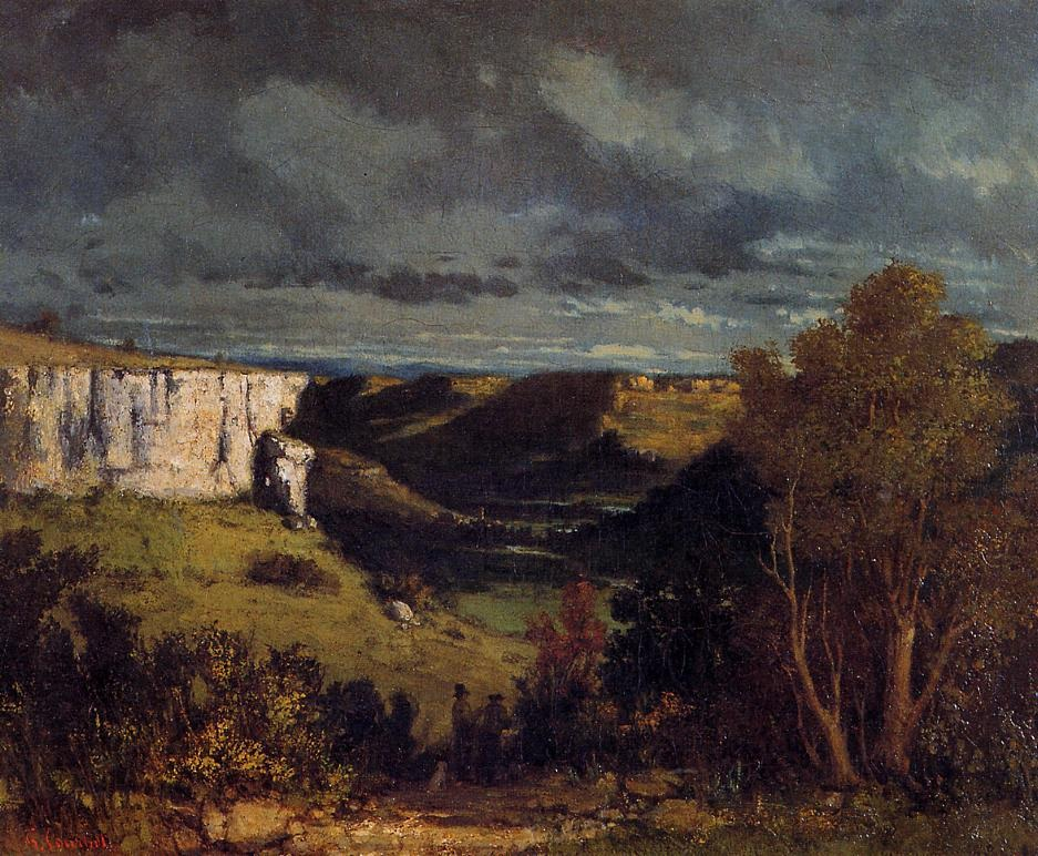 The Valley of the Loue in Stormy Weather – Gustave Courbet