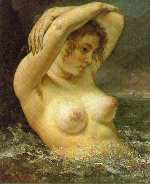 The Woman in the Waves – Gustave Courbet