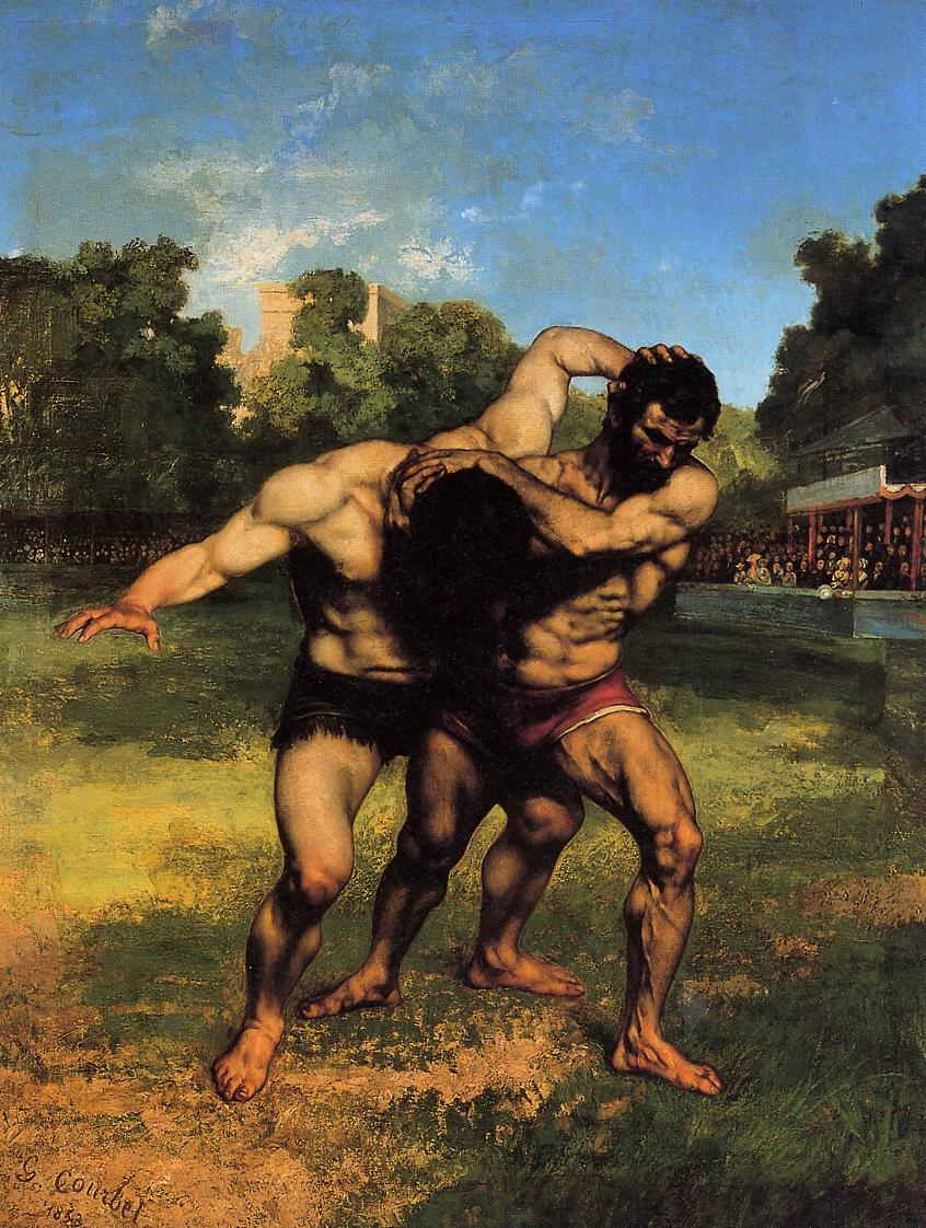 The Wrestlers – Gustave Courbet