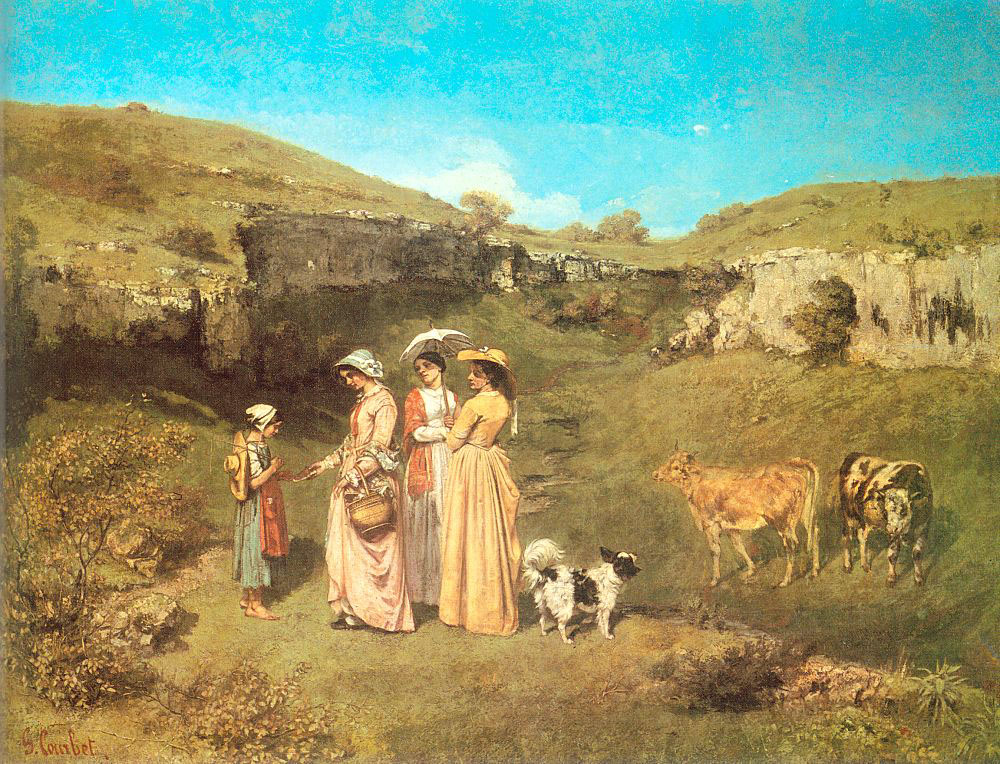 The Young Ladies of the Village – Gustave Courbet