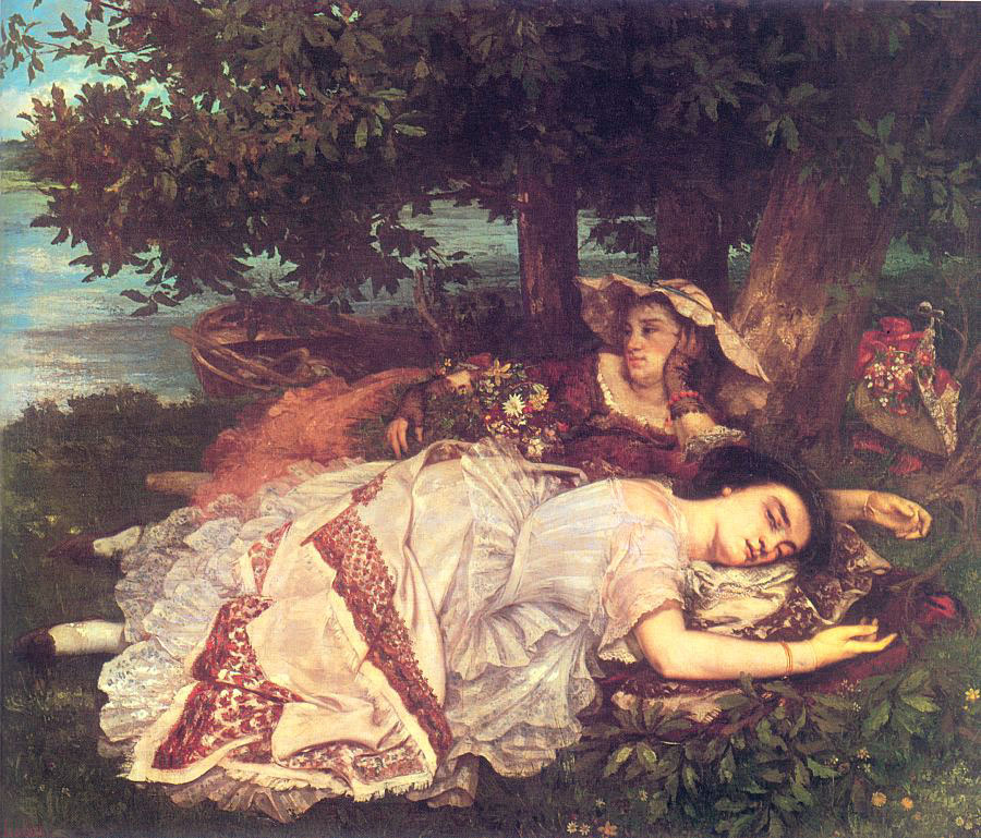 The Young Ladies on the Banks of the Seine – Gustave Courbet