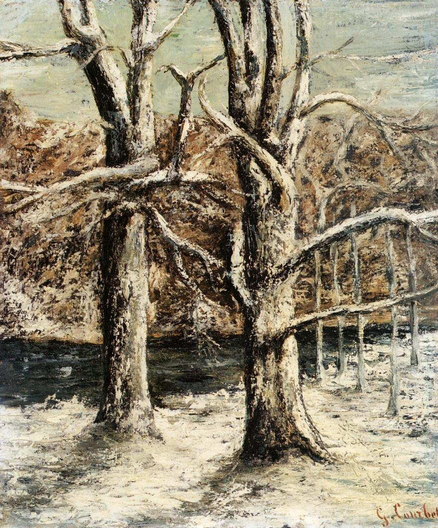 Woods in the Snow – Gustave Courbet